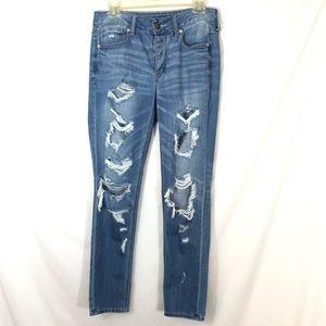 American Eagle Tomgirl Distressed Boyfriend Jeans